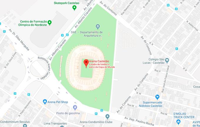 Mapa Castelão